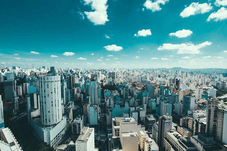Foto de uma metrópole