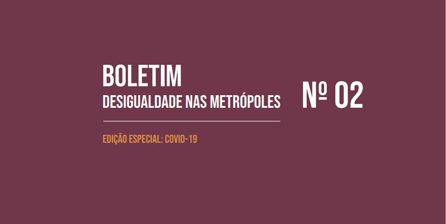 Capa do Boletim - Descigualdade nas metrópoles