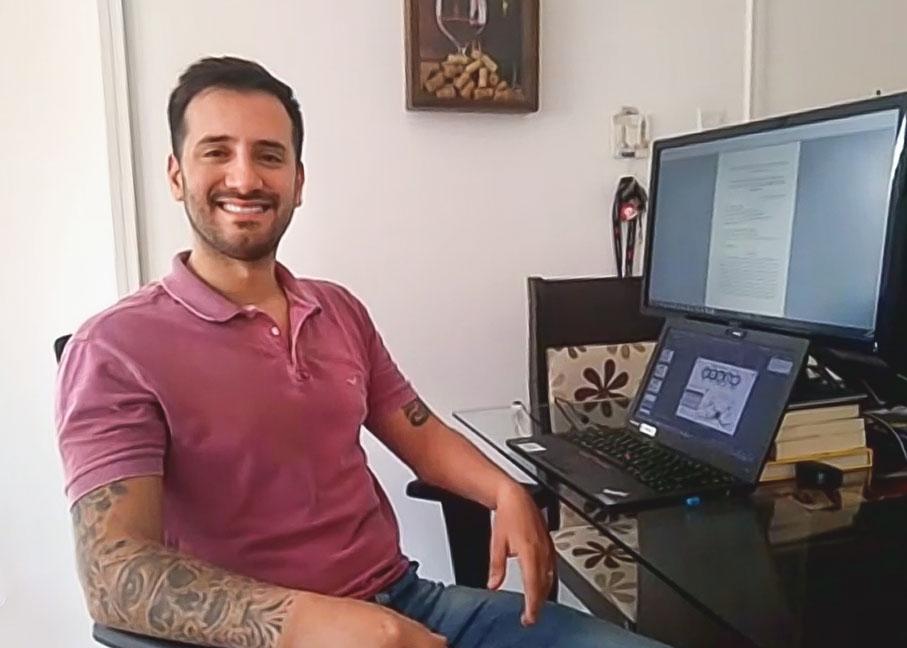 Filipe, formando em Engenharia Elétrica