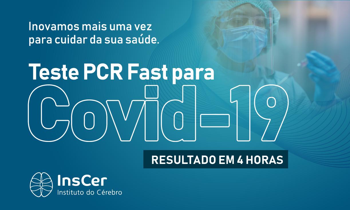 InsCer oferece resultado de exame PCR para Covid-19 em quatro horas