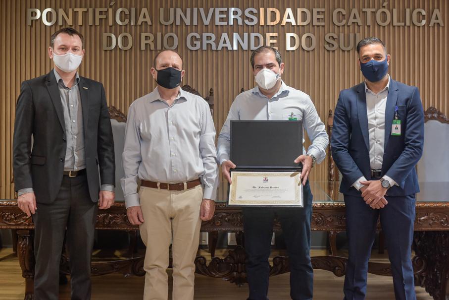Homenagem ao Dr Fabiano Ramos, HSL, Reitoria