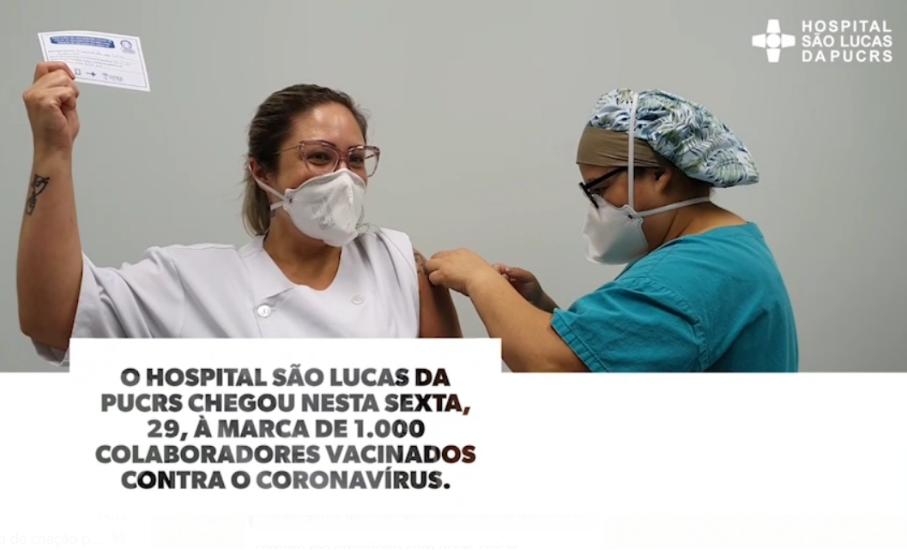 Covid-19: HSL vacinou hoje o milésimo profissional da saúde