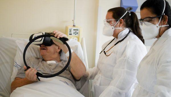 Estudantes utilizam realidade virtual na recuperação de pacientesdo pós-Covid-19