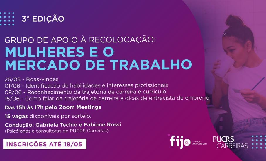 Candidatas podem se inscrever para o grupo de preparação organizado pelo PUCRS Carreiras até esta terça-feira, 18 de maio.
