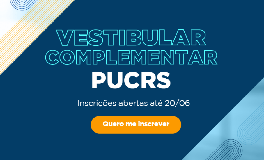 PUCRS abre inscrições para o Vestibular Complementar 2021/2
