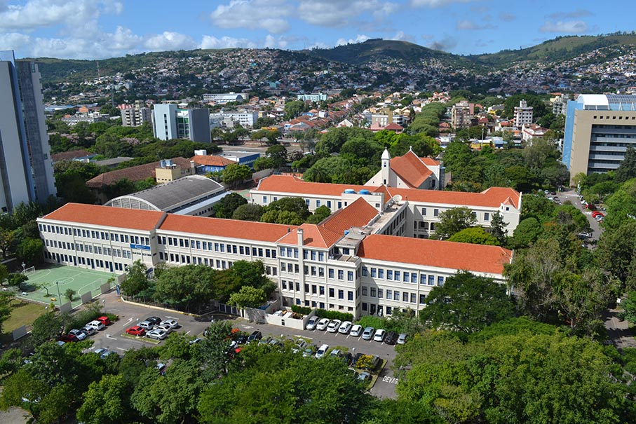 Vista aérea do Colégio Marista Champagnat