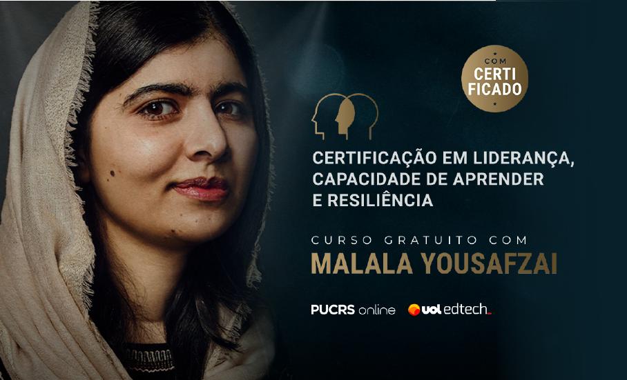 PUCRS Online oferece curso gratuito com Malala Yousafzai, ganhadora do Prêmio Nobel da Paz.